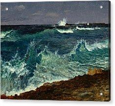 Seascape Acrylic Print by Albert Bierstadt