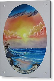 Seascape  Acrylic Print by Kevin Hill