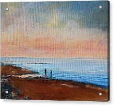 Acrylic Print featuring the painting Seascape by Rosemarie Hakim