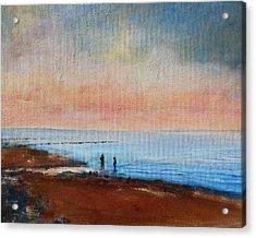 Seascape Acrylic Print by Rosemarie Hakim