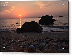 Seashells And Sunrise Acrylic Print