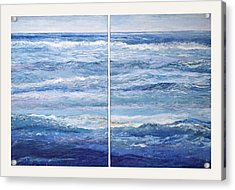 Seashore Diptych Acrylic Print by Meg Black