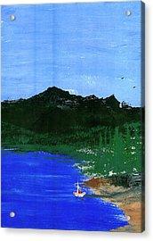 Seaside Acrylic Print by Harry Richards
