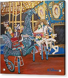 Seaside Heights Carousel Acrylic Print by Norma Tolliver