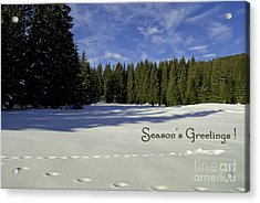 Season's Greetings Austria Europe Acrylic Print by Sabine Jacobs