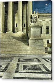 Seated Figure And Columns I Acrylic Print
