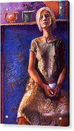 Seated Woman Acrylic Print