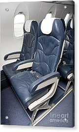 Seats On An Airliner Acrylic Print by Jaak Nilson