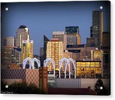 Seattle Air Acrylic Print by Benjamin Thompson