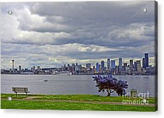 Seattle From Alki Beach Acrylic Print