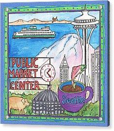 Seattle Montage Acrylic Print by Pamela  Corwin