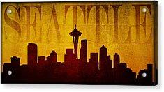 Seattle Acrylic Print by Ricky Barnard