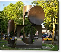 Seattle Sculpture Acrylic Print by Chalet Roome-Rigdon
