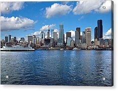 Seattle Skyline Acrylic Print by Richard Leon
