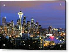 Seattle Skyline Acrylic Print by Tom Schwabel