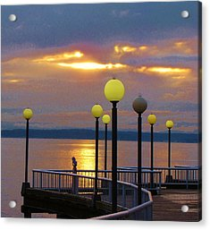 Seattle Sunburst Acrylic Print by Feva  Fotos