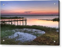 Sebring Sunrise Acrylic Print by Debra and Dave Vanderlaan
