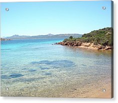 Secluded Beach Acrylic Print by Holidaygold