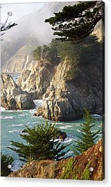 Secluded Big Sur Cove 1 Acrylic Print by Jeff Lowe