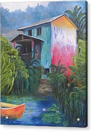Secluded Hotel Acrylic Print