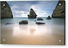 Secret Beach Acrylic Print by Jorge  Fonseca