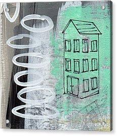 Secret Cottage Acrylic Print by Linda Woods