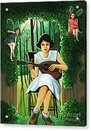Secret Garden Fantasy Fairy Acrylic Print by Linda Apple