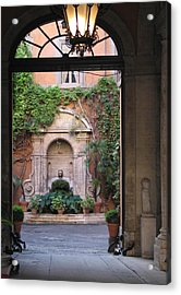 Acrylic Print featuring the photograph Secret View In Rome by Vikki Bouffard