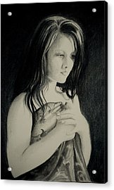 Acrylic Print featuring the drawing Secrets by Lynn Hughes