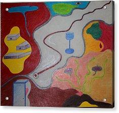 Secrets Thru Time Held Precariously Acrylic Print by Todd Breitling