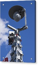 Security Camera On Tower. Acrylic Print by Mark Williamson