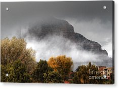 Acrylic Print featuring the photograph Sedona Fog by Tam Ryan