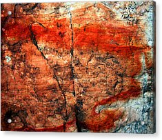 Sedona Red Rock Abstract 2 Acrylic Print by Peter Cutler