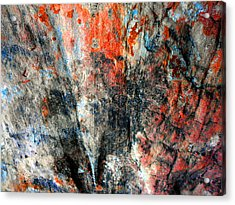 Sedona Red Rock Zen 72 Acrylic Print by Peter Cutler