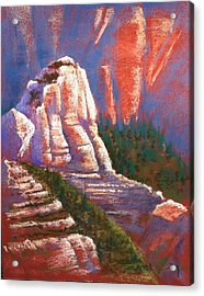 Acrylic Print featuring the photograph Sedona Rock by Drusilla Montemayor