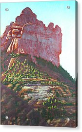 Acrylic Print featuring the painting Sedona Shadows by Drusilla Montemayor