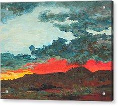 Sedona Sunset Acrylic Print by Sandy Tracey