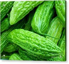 Seeing Green Acrylic Print by Lisa Billingsley