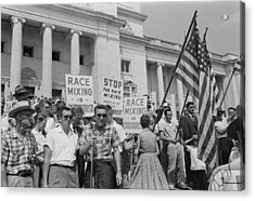 Segregationist Rally In Little Rock Acrylic Print