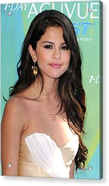 Selena Gomez At Arrivals For 2011 Teen Acrylic Print