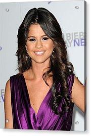 Selena Gomez At Arrivals For Justin Acrylic Print
