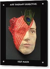 Self Mask Acrylic Print by Anne Cameron Cutri