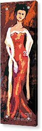 Self Portrait - Going Out Acrylic Print by Ginette Callaway