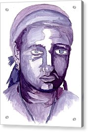 Self Portrait At 19 Acrylic Print by Cecelia Taylor-Hunt