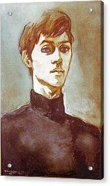Self Portrait Blue Acrylic Print