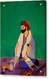 Self-portrait Acrylic Print by Eliezer Sobel