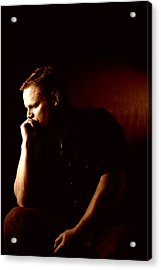 Self Portrait In Copper Acrylic Print by Monte Arnold