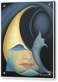 Self Portrait Acrylic Print by Joanna Pregon
