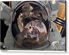 Self-portrait Of Astronaut Robert Acrylic Print by Nasa