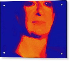 Self Portrait On Fire For The Future Acrylic Print by Carolina Liechtenstein